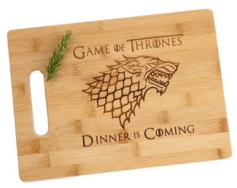 Dinner Is Coming Personalized Game Of Thrones Custom Engraved Cutting Board