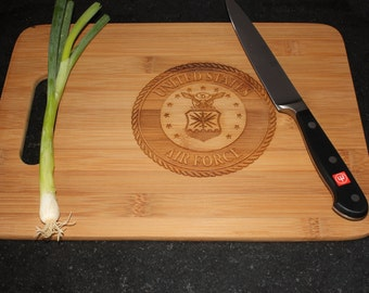 Air Force Military Service and Veteran Cutting Board  Grill BBQ Father's Day Gift
