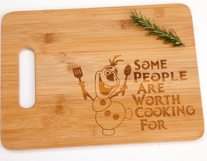 Frozen Movie Olaf Some People Are Worth Cooking For Bamboo image 0