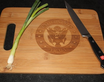 Army Military Service and Veteran Cutting Board  Grill BBQ Gift