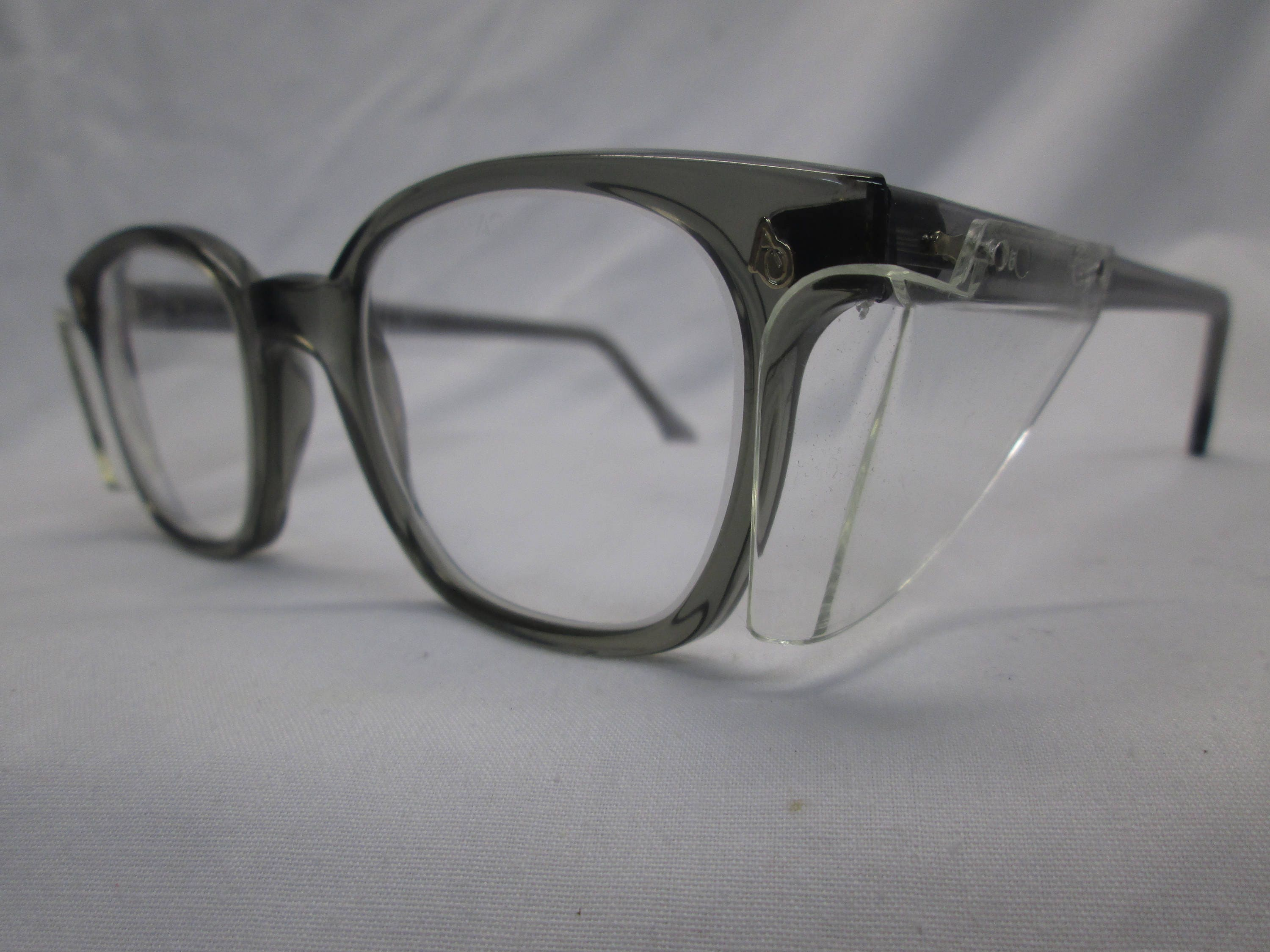 American Optical AO Vintage Safety Glasses NOS Gray Clear