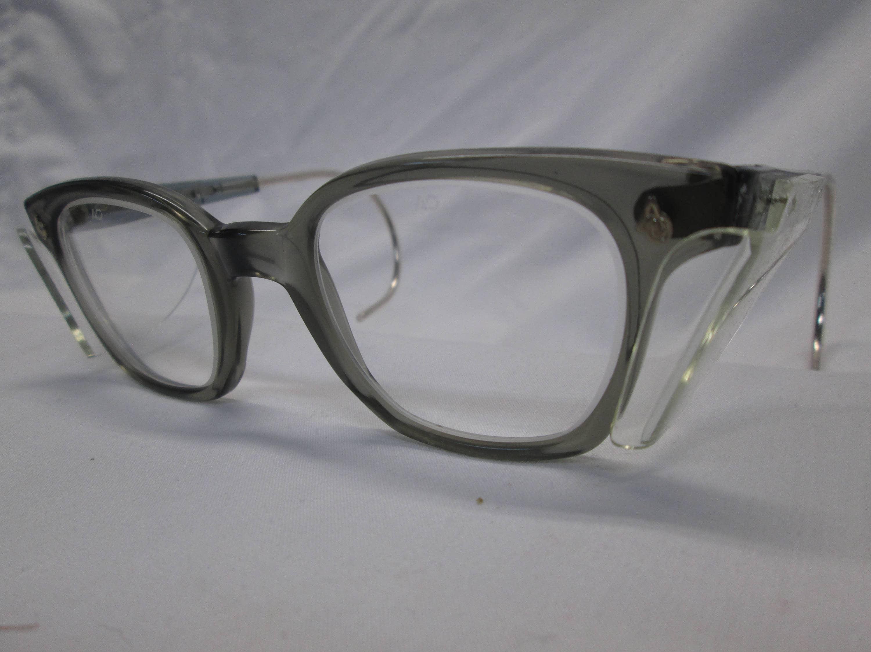 Amerikanische optische AO Sicherheit Brille NOS grau klar Glas