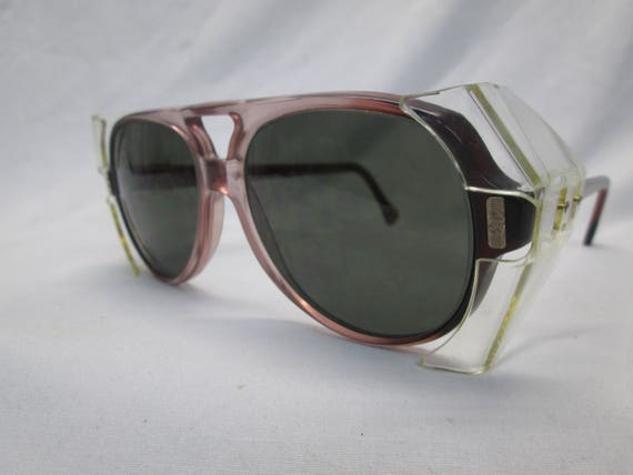 6e792ac684 American Optical AO Safety Eyeglasses 54 eye Brown Pilot Gray