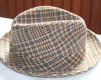 949bbd837f6 Vintage Mens Tweed Wool Hat Made by Champ