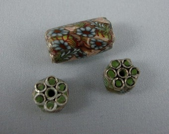 Millennium Garden Bridal Set with sterling silver findings