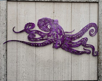 metal fish art wall decor.htm octopus wall art etsy  octopus wall art etsy