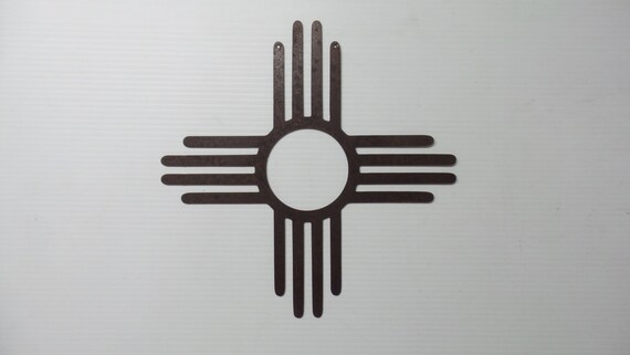 New Mexico 18 Inch Zia Sun Symbol Metal Sign Z2 Etsy