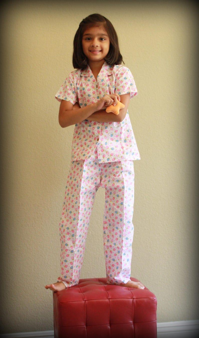 Girls Pajamas  Strawberry Dreamz  Summer Kids Pajama