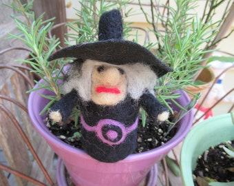 Witch Figure, Mini Witch, Handmade Witch