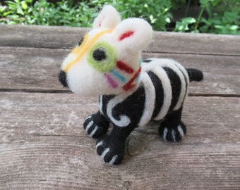 Felted Dog, Day of The Dead, Dog Figure, Made By Hand