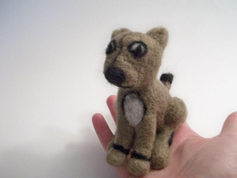 Cat Figure Handmade Gift Needle Felted Kitty