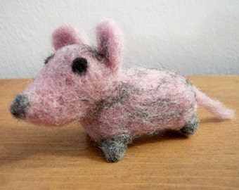 Felted Mouse, Handmade Wool Mouse, Small Plush