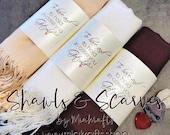 1 Pashmina Handmade - FREE DOMESTIC SHIPPING - Any color - Pashminas Bridesmaids - bridesmaid favor - pashmina wedding favors - shawl scarf