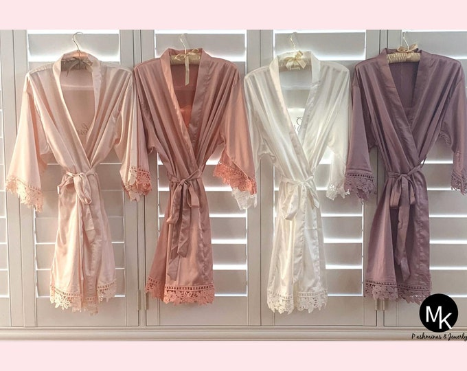 Featured listing image: Robes -TEMP PROMO -  Bridesmaid Gift -  Bridesmaid Robes - Wedding Robes - Bridesmaids Gift Ideas - Bridal Shower Gift