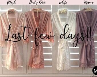 Robes - Bridesmaid Gift -  Bridesmaid Robes - Wedding Robes - Bridesmaids Gift Ideas - Bridal Shower Gift