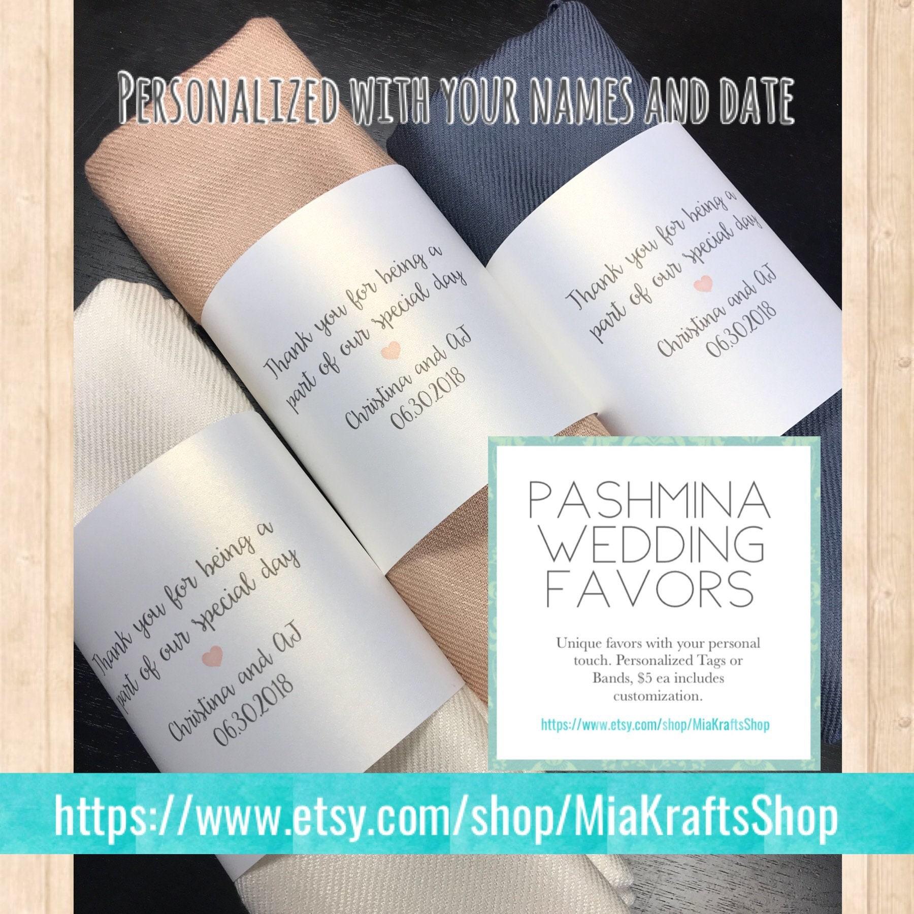 Pashmina 3pc Personalized shawl Bridesmaids gifts