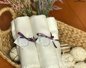Pashmina Scarf Ivory - Ivory Bridesmaid's Gift - Ivory Bridesmaid Scarf - Ivory Wedding Shawl - Ivory Party Favors - Ivory Wedding Shawl