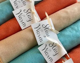 Pashminas 6 pcs Handmade- Any color- Pashminas Bridesmaids -pashmina shawl - pashmina as a favor -  pashminas for weddings -  pashminas -