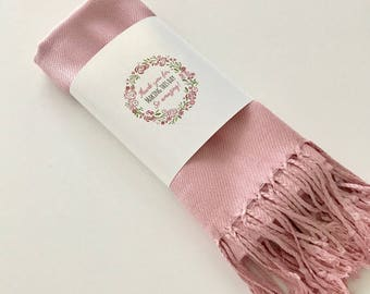 1 Pashmina scarf  - bridesmaid's gift - bridesmaid scarf - wedding shawl - ANY COLOR party favors - pink wedding shawl