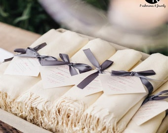 11  Pashminas Handmade  - Pashminas Bridesmaids -Pashmina shawl - Pashmina as a Favor -  Pashminas for weddings -  Pashminas