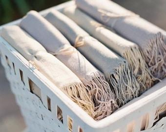 Pashmina 25pc - Shawl - Bridesmaids gifts - Wedding favors - Scarves  - NO TAGS - no ribbon