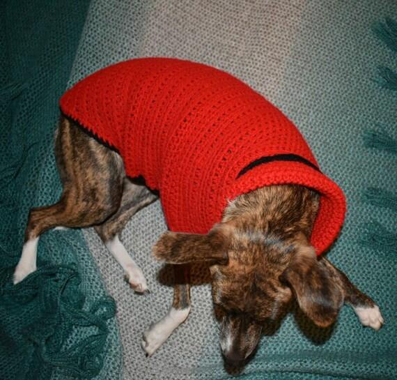 Pull en Crochet lévrier italien, Iggy pull, chien, chien de Crochet pull, Red dog pull