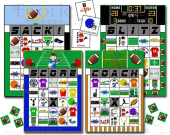 Football Bingo 40 Printable Cards INSTANT DOWNLOAD