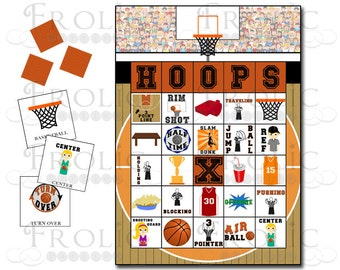 Basketball Bingo 10 Printable Cards INSTANT DOWNLOAD
