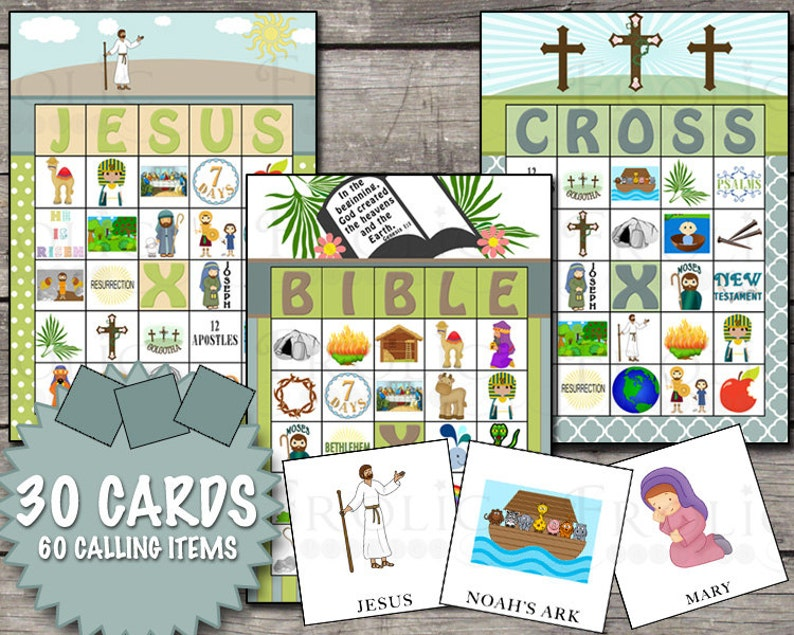 photo relating to Bible Bingo Printable known as Christian Bible Bingo 30 Printable Playing cards Instantaneous Down load