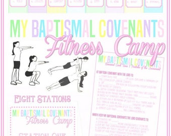 My Baptismal Covenants Fitness Camp - Learning and Living the Gospel - Great Easter Activity