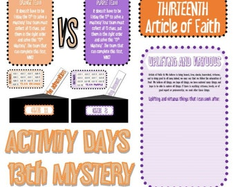 Activity Days 13th Mystery