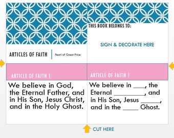 Articles  Of Faith Booklet/Book/Powerpoint