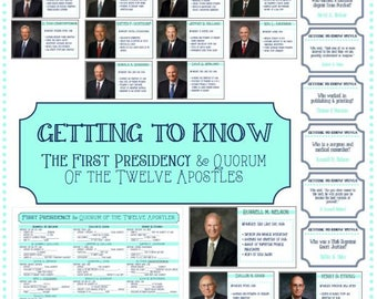 Getting to Know Presidency & Apostles - Learning and Living The Gospel - Updated January 2018