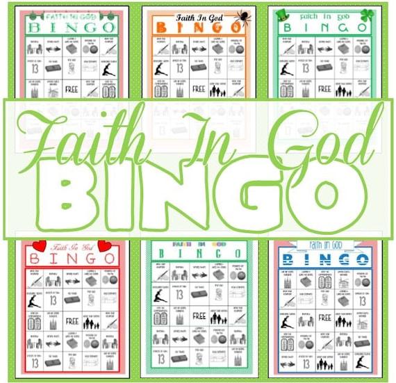 Sunday School Christmas Party Games: Faith In God Bingo Game Holiday Themed Activity Days