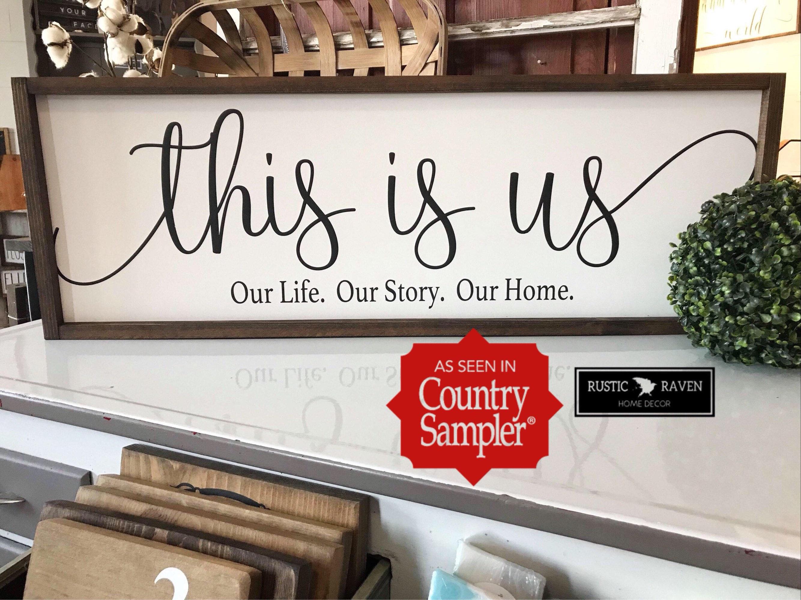 12 x 36 Dies ist uns unser Leben. Unsere Geschichte. Unser   Etsy