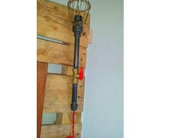 Robot Lamp Modern Industrial Cast Pipe Light Etsy