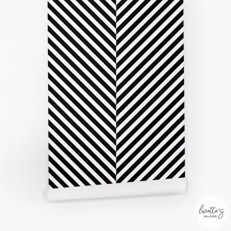 Scandi Boho Style Removable Wallpaper  Herringbone Pattern Traditional or Self adhesive Wallpaper