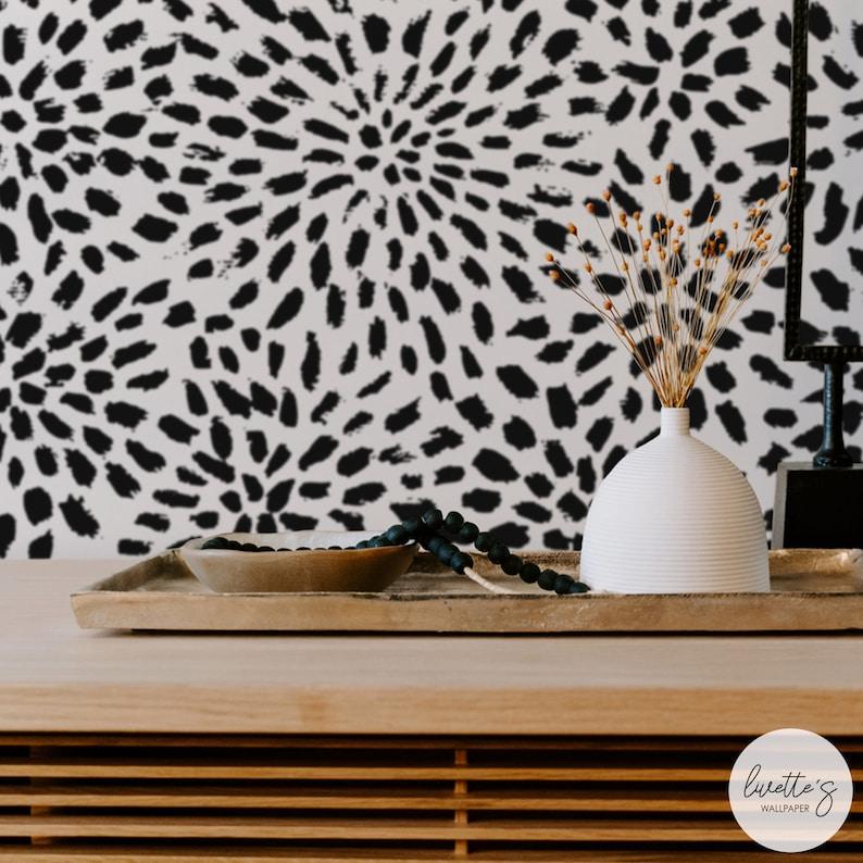 Starburst Wallpaper in black/ Modern Traditional or Removable image 0