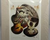Michael McCullough Art Print Pottery, Mimbres Bowl, Hopi Wedding Vase Acoma Zia