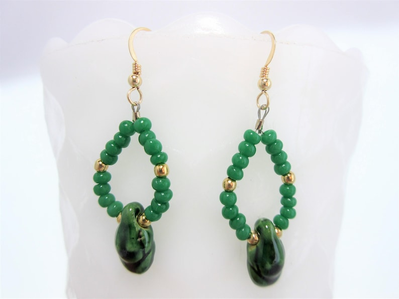 31bf0a81440d2 Green Earth Mother Earrings, Gold Earrings, Goddess Earrings, Dangle  Earring, Earth Mother Goddess, Native American Made, Cherokee Made #E10