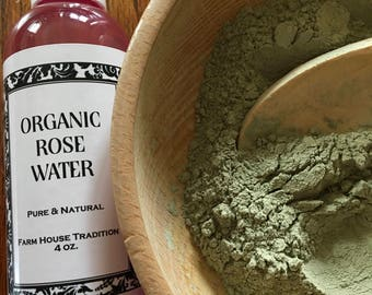 French Green Clay & Organic Rose Water