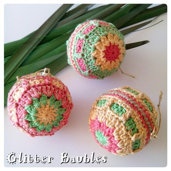 Crochet Pattern Crochet Christmas Baubles Pattern Pdf Etsy