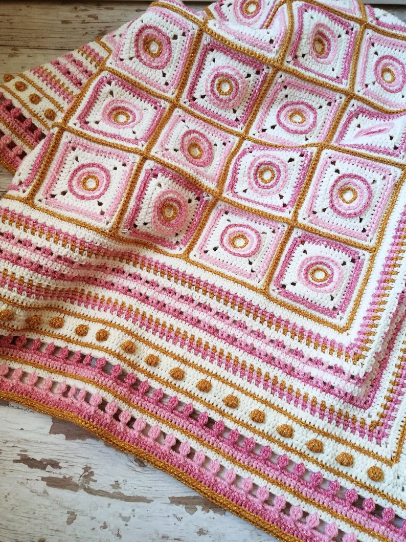 Wheels of Hope Crochet Blanket Pattern blanket pattern image 0