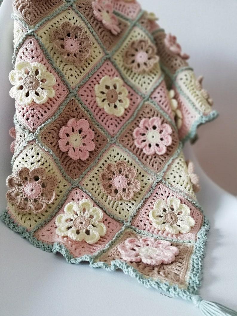 Petals and Ruffles Blanket crochet blanket pattern blanket image 0
