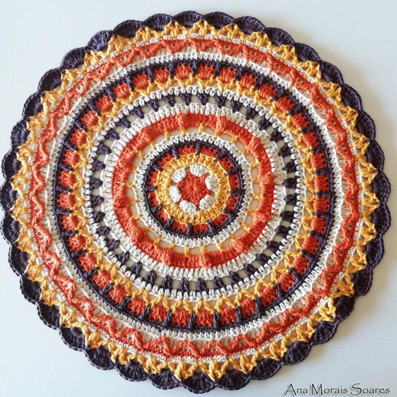 Crochet Pattern Crochet Mandala Pattern Mandala Pattern Etsy
