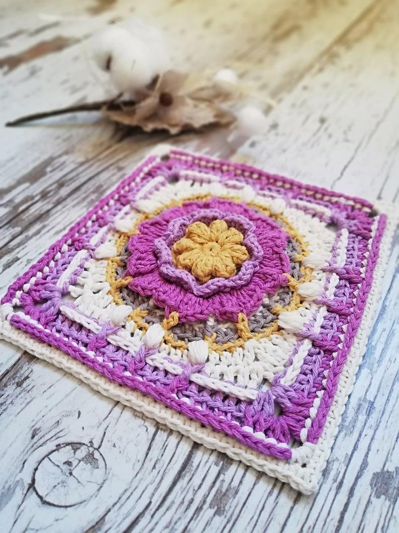Crochet Pattern. Crochet Square Pattern. Crochet square. image 0
