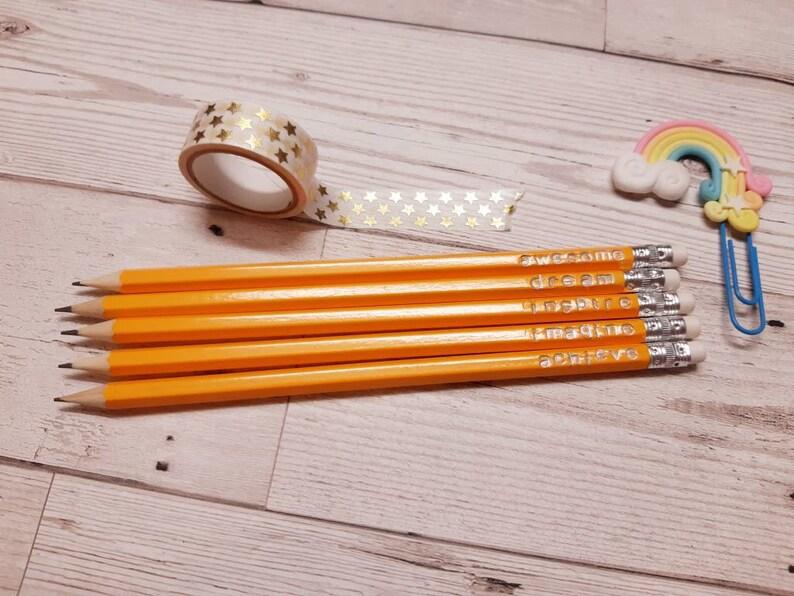 Personalised pencils  you choose image 0