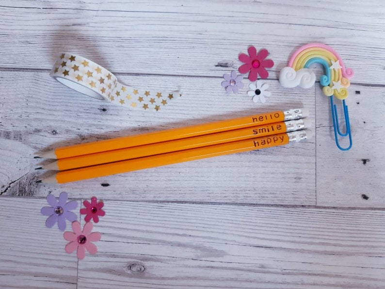 Personalised pencils  you choose image 0