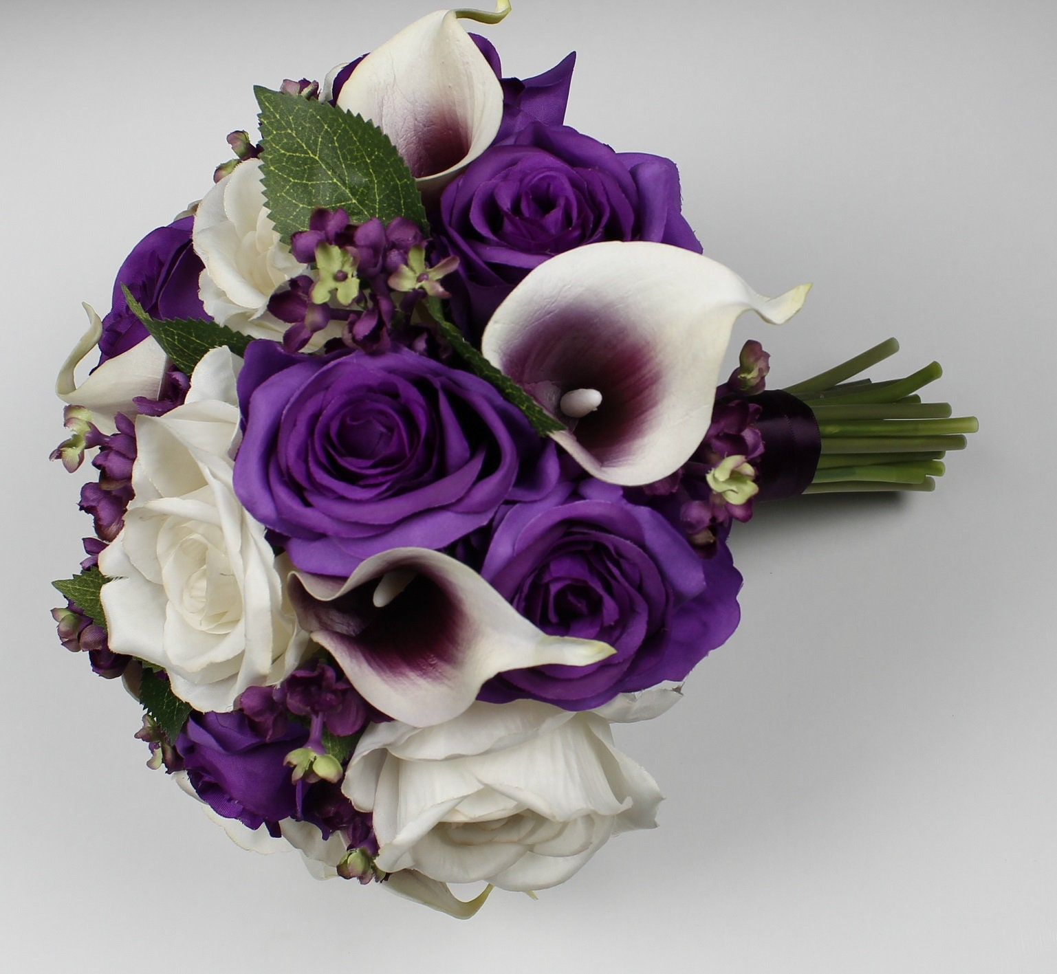 Wedding Bridal Flowers: Purple Wedding Bouquet Purple Calla Lily Bouquet Purple