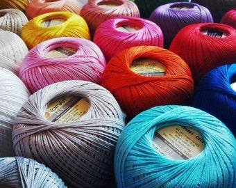 NEW crochet cotton thread size 10, 50g x 225m, 3ply, mercerized cotton yarn #10, YARNART LILY